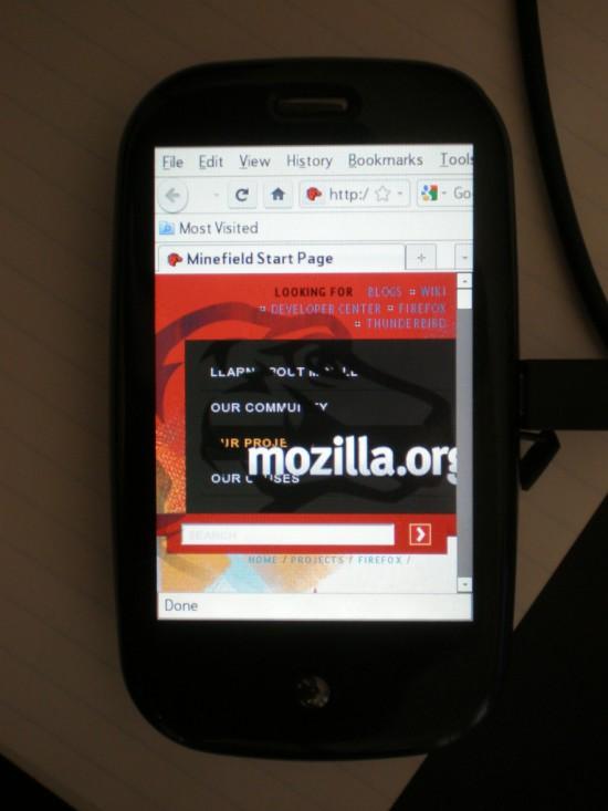Firefox na Palm Pre