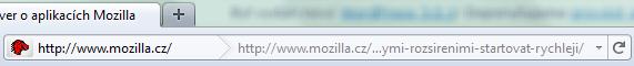 Adresní řádek ve Firefox 4.0
