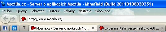 Firefox 4 a pořadí lišt jako ve Firefoxu 3.6