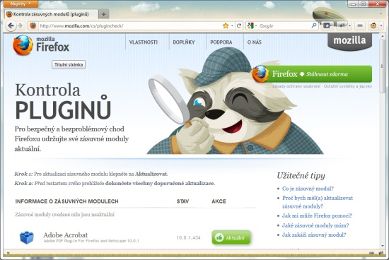 plugin check firefox
