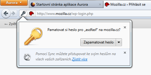Propagace Sync ve Firefoxu 6