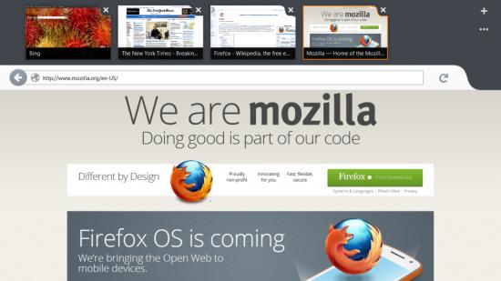 Firefox pro Windows 8 Metro