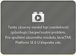 Java byla zablokována