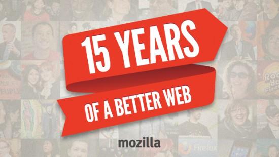 Mozilla slaví 15 let