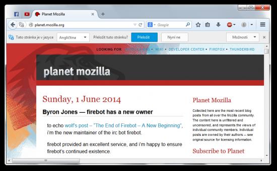 Překladač ve Firefoxu