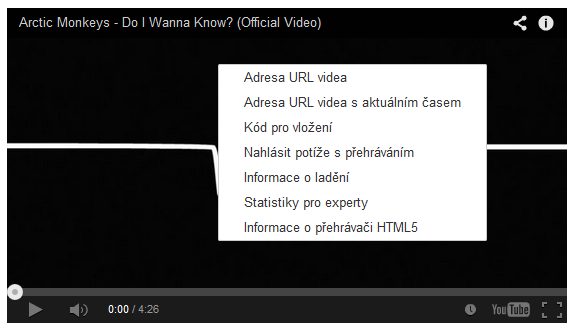 Video v HTML5 na YouTube