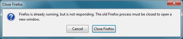 Firefox stále spuštěn