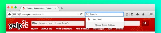 Přidání vyhledávače ve Firefoxu