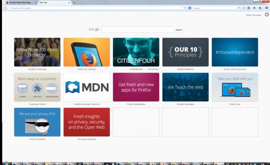 Výchozí náhledy ve Firefoxu