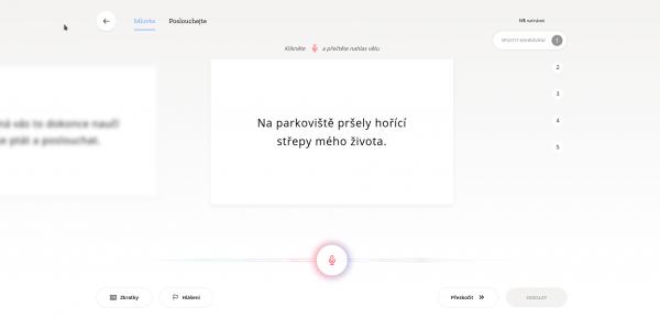 Pohled na stránku projektu Mozilla Common Voice
